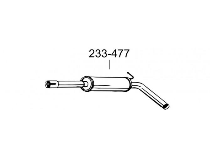 Глушитель Мерседес Вито (Mercedes Vito) 108D 96- (291-121) Bosal 13.166 алюминизированный