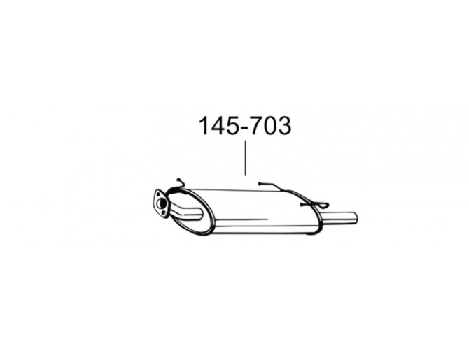 Глушитель Ниссан Максима QX MK IV (Nissan Maxima QX MK IV) 94-00 (145-703) Bosal 15.61 алюминизированный