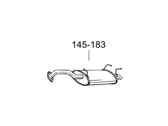 Глушитель Ниссан Примьера (Nissan Primera) 02-08 (145-183) Bosal 15.242 алюминизированный