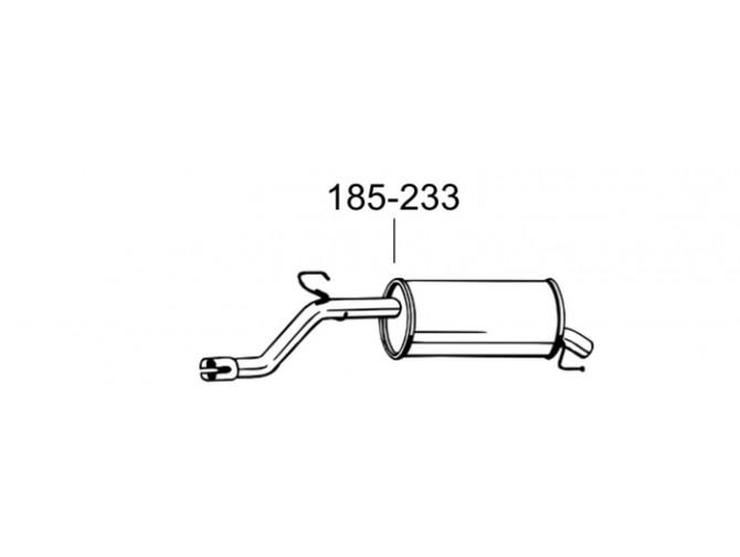 Глушитель Опель Корса Д, Е (Opel Corsa D, E) 10-14 (185-233) Bosal алюминизированный