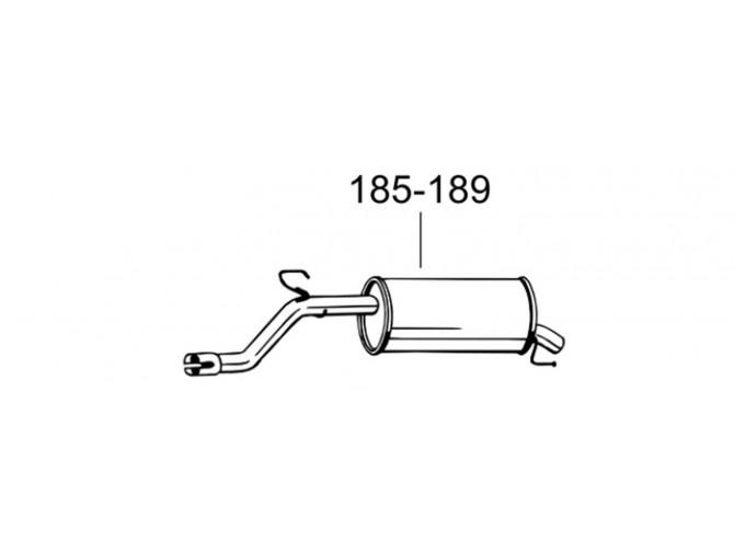 Глушитель Опель Корса Д (Opel Corsa D) 06-09 (185-189) Bosal 07.439 алюминизированный