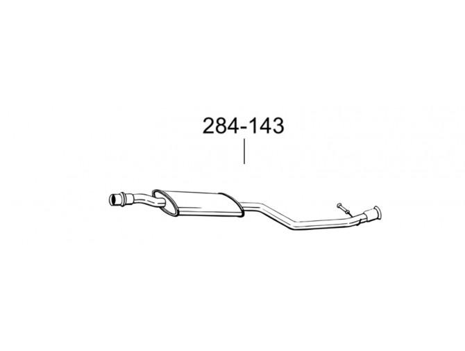 Глушитель передний Сітроен Ксара Пікасо (Citroen Xsara Picasso) 1.8 -16V/99-(284-143) Bosal 04.256 алюминизированный