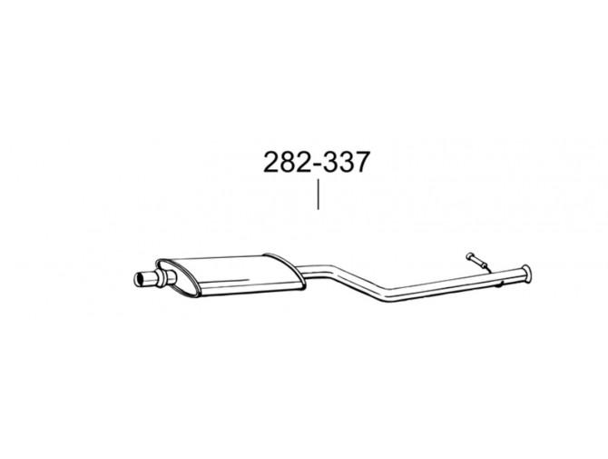 Глушитель передний Ситроен Ксара Пикасо (Citroen Xsara Picasso) 2.0 HDi Turbo Diesel 99-02 (282-337) Bosal 04.298 алюминизированный