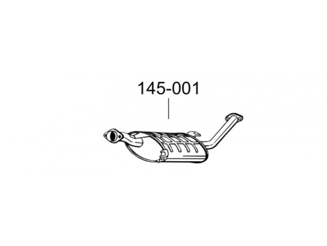 Глушитель передний Форд Маверик МК 1 (Ford Maverick MK I)/Ниссан Террано (Nissan Terrano) 93-02 (145-001) Bosal 15.205 алюминизированный