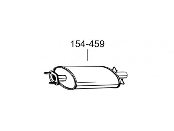 Глушитель передний Форд Транзит (Ford Transit) 06- (154-459) Bosal 08.03 алюминизированный