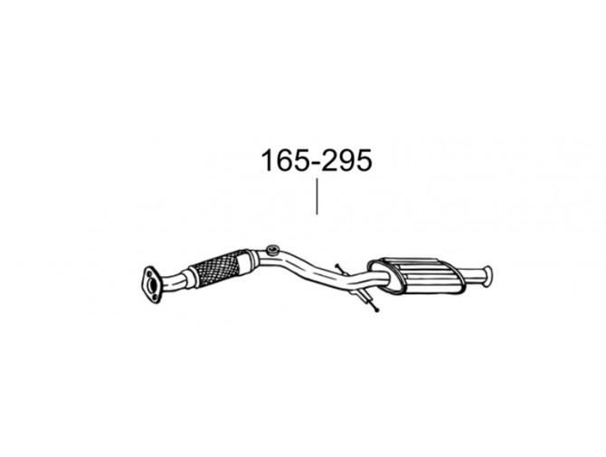 Глушитель передний Хюндай Матрикс (Hyundai Matrix) 01- (165-295) Bosal алюминизированный