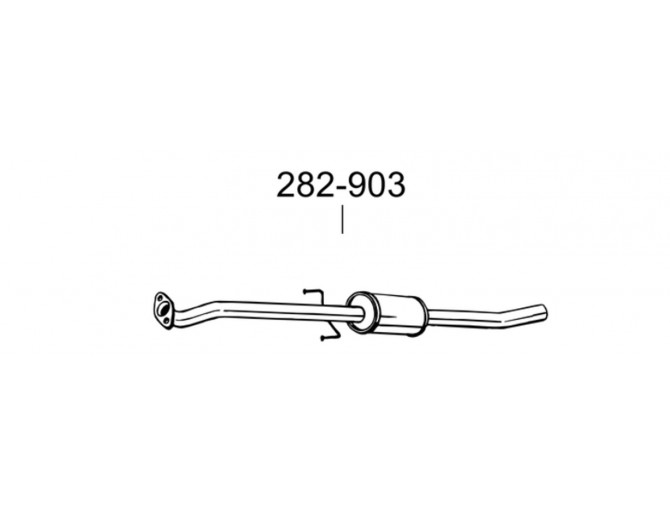 Глушитель передний Киа Сид (Kia Ceed) 1.4/1.6 06-09 (282-903) Bosal 47.68 алюминизированный