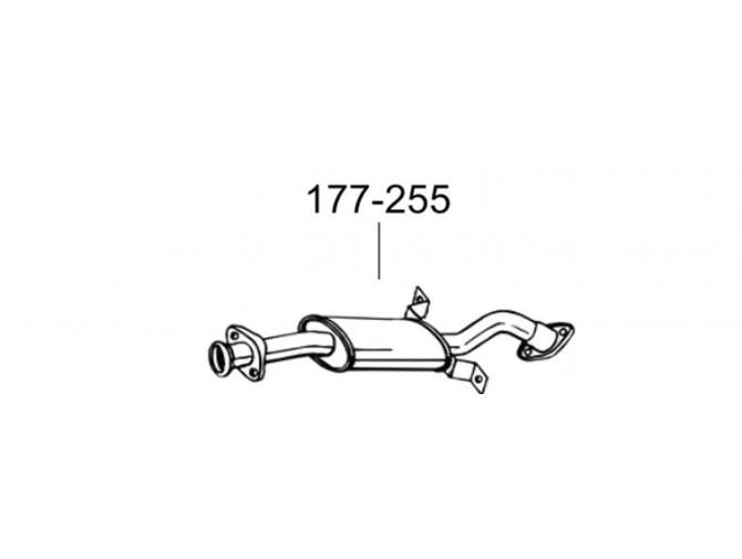 Глушитель передний Митсубиси Паджеро (Mitsubishi Pajero) 90-96 (177-255) Bosal алюминизированный