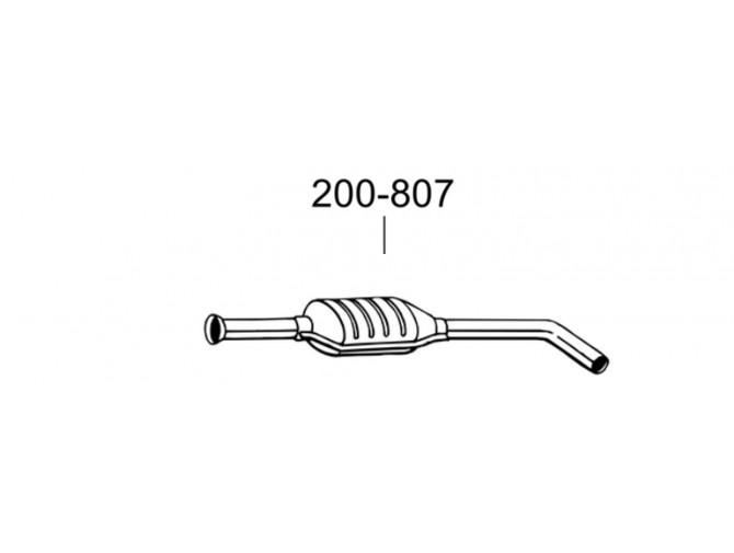 Глушитель передний Рено Меган (Renault Megane)/Рено Сценик I (Renault Scenic I) 1.4i 16V 99-02 (200-807) Bosal 21.266 алюминизированный