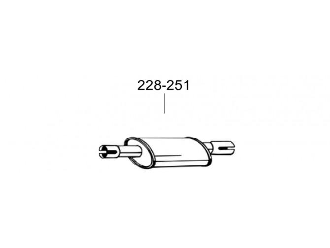 Глушитель передний Тойота Корола (Toyota Corolla) 1.6i 16V 97-99 (228-251) Bosal 26.22 алюминизированный