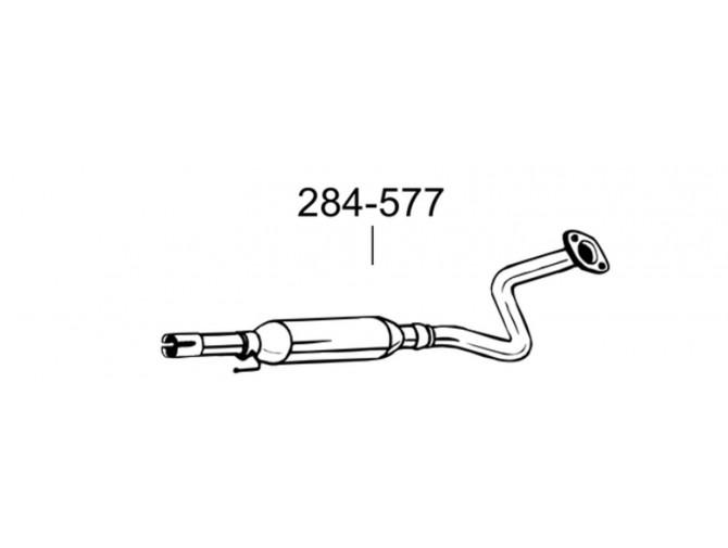 Глушитель передний Тойота Корола/Корола Версо (Toyota Corolla/Corolla Verso) 1.4/1.6 01-07 (284-577) Bosal 26.37 алюминизированный