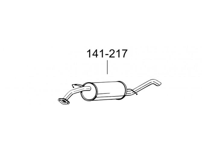 Глушитель Шевроле Авео (Chevrolet Aveo) (141-217) седан Bosal алюминизированный