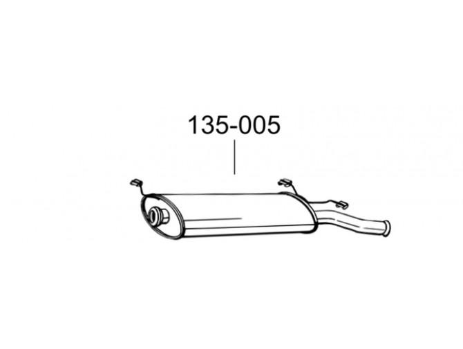 Глушитель Ситроен Ксара (Citroen Xsara) 00-04 (135-005) Bosal 04.285 алюминизированный