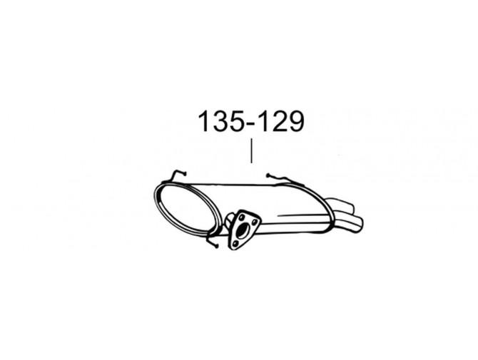 Глушитель Ситроен С-Кроссер/Пежо 4007 (Citroen C-Crosser/Peugot) 4007 2.2 HDi 07-12 (135-129) Bosal алюминизированный