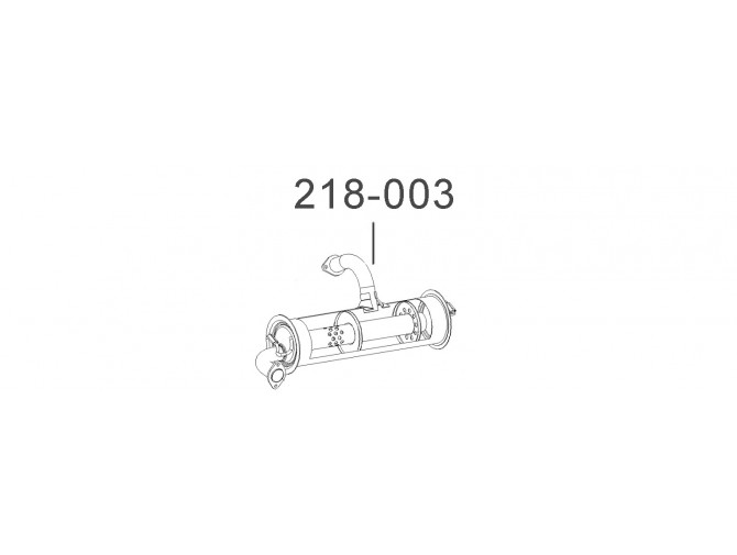 Глушитель Таврия-1102 (110308-1201009-11) без сопилки Bosal алюминизированный