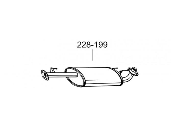 Глушитель Тойота Ленд Крузер (Toyota Land Cruiser) (228-199) 4.0-V6 02 Bosal алюминизированный