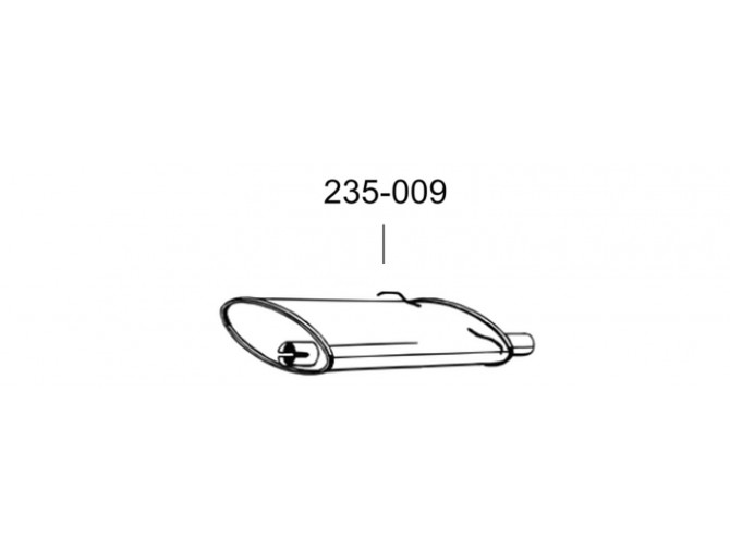 Глушитель Вольво 700, 900 серии (Volvo 700, 900 series) 83-98 (235-009) Bosal алюминизированный