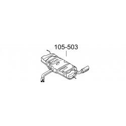 Глушитель Ауди А3 (Audi A3) 1.6 03-08 (105-503) Bosal / Polmo 01.107 алюминизированный