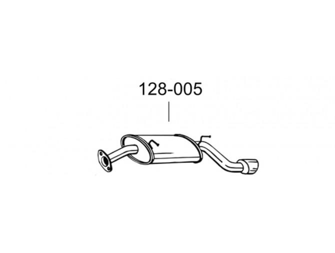 Глушитель задний Шевролет Каптива (Chevrolet Captiva) 07- (128-003) Bosal алюминизированный
