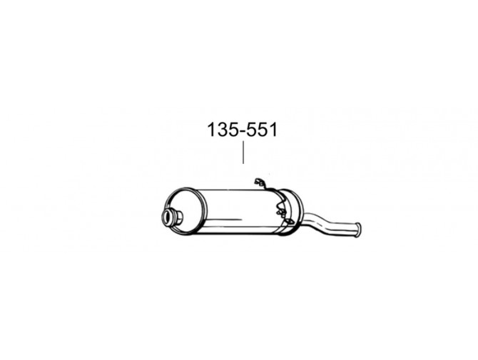 Глушитель задний Ситроен Ксара Пікасо (Citroen Xsara Picasso) 1.8i -16V 12/99 (135-551) Bosal 04.312 Алюминизированный