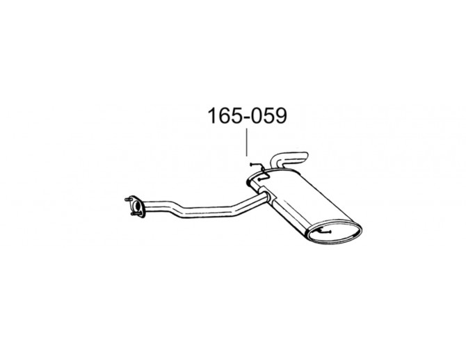 Глушитель задний Хюндай IX35 (Hyundai IX35) 09- (165-059) Bosal алюминизированный
