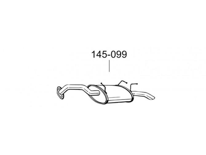 Глушитель задний Ниссан Премьера (Nissan Primera) 02-04 (145-099) Bosal алюминизированный