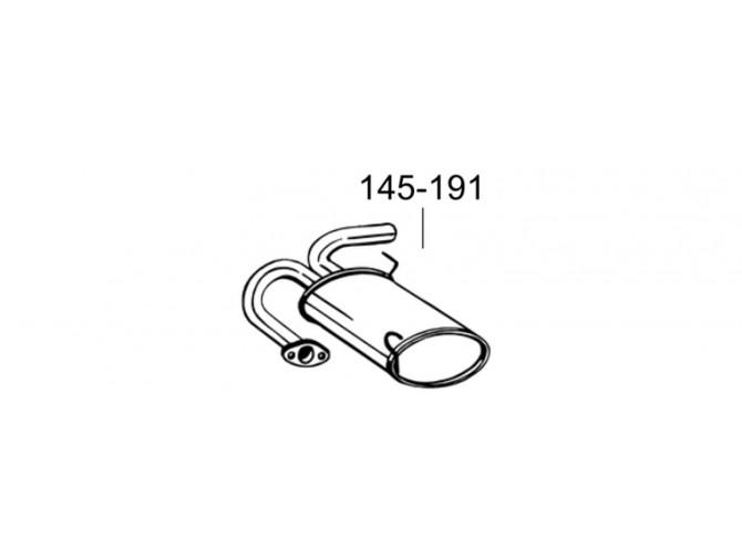 Глушитель задний Ниссан Икс-Треил (Nissan X-Trail) 03-06 (145-191) Bosal алюминизированный