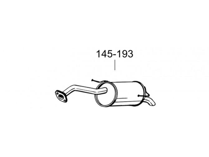 Глушитель задний Ниссан Микра (Nissan Micra) 03-05 (145-193) Bosal алюминизированный