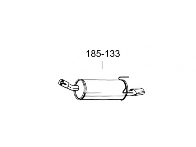 Глушитель задний Опель Астра H (Opel Astra H) GTC 05- (185-133) Bosal алюминизированный