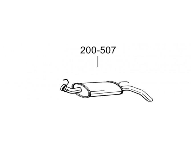 Глушитель задний Рено Експрес (Renault Express) 1.2i; 1.4i; 1.6D; 1.9D 92-01 (200-507) Bosal 21.231 алюминизированный