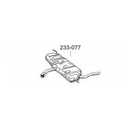 Глушитель задний Сеат Алтея (Seat Altea) /Сеат Леон (Seat Leon) 1.6i-16V 04-08 (233-077) Bosal 23.78 алюминизированный