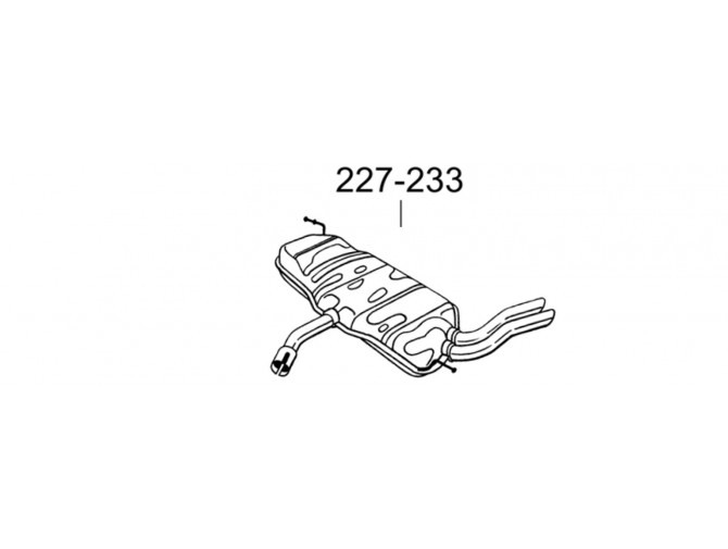 Глушитель задний Сеат Алтея (Seat Altea)/Сеат Леон (Seat Leon) 2.0 TDi (227-233) Bosal 30.259 алюминизированный