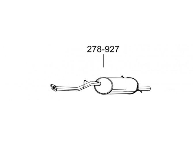 Глушитель задний Субару Импреза (Subaru Impreza) 1.6/1.8 93-00 (278-927) Bosal 46.11 алюминизированный