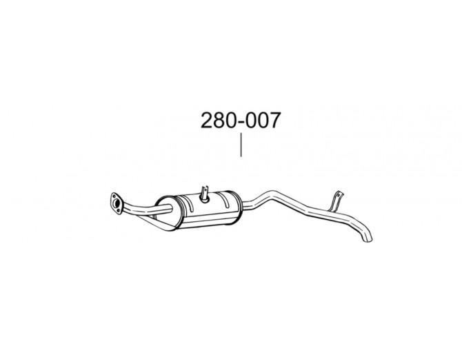 Глушитель задний Сузуки Самурай (Suzuki Samurai) 92-95 (280-007) Bosal алюминизированный