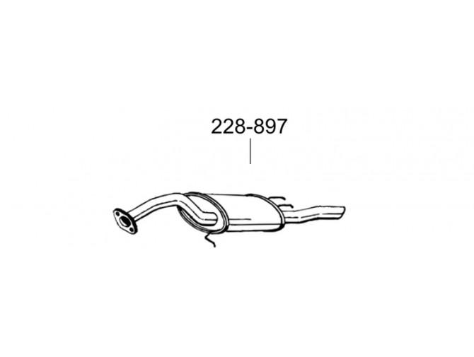 Глушитель задний Тойота Королла (Toyota Corolla) 1.8D kombi 87-92 (228-897) Bosal 26.150 алюминизированный