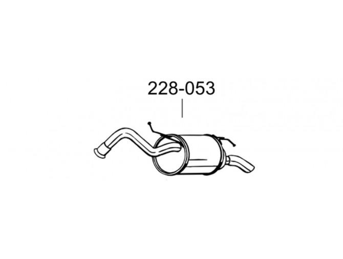 Глушитель задний Тойота Ярис (Toyota Yaris) 05- (228-053) Bosal алюминизированный