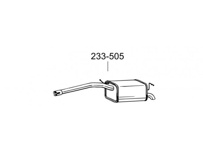 Глушитель задний Фольксфаген Кадди (Volkswagen Caddy III) 07-10 (233-505) Bosal алюминизированный