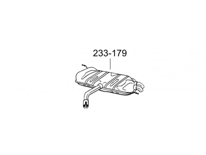 Глушитель задний Фольксваген Гольф (Volkswagen Golf) 07-08 (233-179) Bosal алминизированный