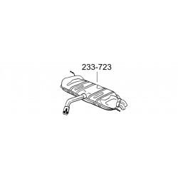 Глушитель задний Фольксваген Гольф V (Volkswagen Golf V) 03-08 (233-723) Bosal алюминизированный