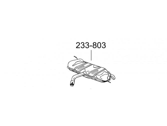 Глушитель задний Гольф V (Volkswagen Golf V) 1.4i/1.4 FSi (233-803) Bosal 30.614 алюминизированный