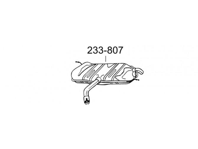 Глушитель задний Фольксваген Гольф V (Volkswagen Golf V) 1.6i/1.6 FSi 03-08 (233-807) Bosal 30.616 алюминизированный