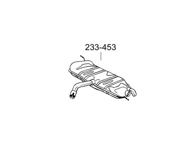 Глушитель задний Фольксваген Гольф VI (Volkswagen Golf VI) 08-12 (233-453) Bosal алюминизированный