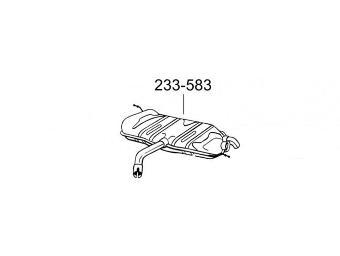 Глушитель задний Фольксваген Тоуран (Volkswagen Touran) 1.6 03-08 (233-583) Bosal 30.154 алюминизированный