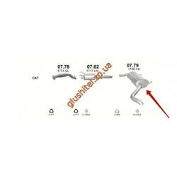 Глушитель Ситроен Джампер (Citroen Jumper) / Фиат Дукато (Fiat Ducato) / Пежо Боксер (Peugeot Boxer) 2.2 HDi 06-11 (07.79) Polmostrow алюминизированный