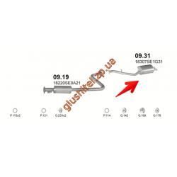 Глушитель Хонда Аккорд (Honda Accord) 85-89 2.0 Aerodeck (09.31) Polmostrow алюминизированный