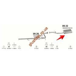 Глушитель Хонда Аккорд (Honda Accord) 1.8 16V 96-98 SDN (09.32) Polmostrow алюминизированный