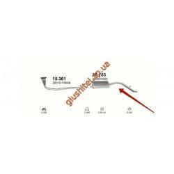 Глушитель Ниссан Ванетте (Nissan Vanette) 87-94 2.0D (15.103) Polmostrow алюминизированный