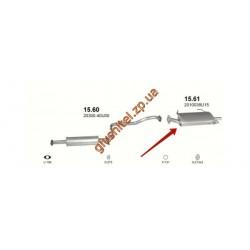 Глушитель Ниссан Максима (Nissan Maxima) 94-00 2,0i-3,0i V6 (15.61) Polmostrow алюминизированный