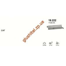 Глушитель Пежо 307 (Peugeot 307) 1.6/2.0 HDi kombi 02-07 (19.222) Polmostrow алюминизированный