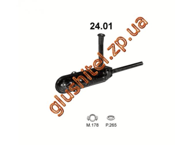 Глушитель Шкода (Skoda) 100 (24.01) Polmostrow алюминизированный